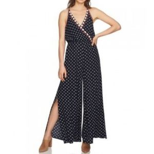 NWT 1. State Jumpsuit Side Slit Gypsy Night Size L